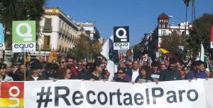 Manifestación recorta el paro