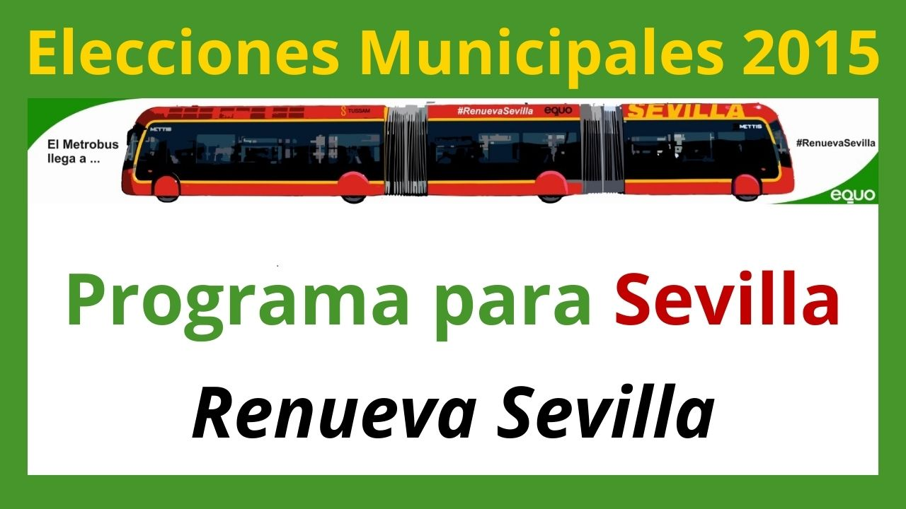 imagen programa electoral Verdes Verdes Equo Sevilla Elecciones Municipales 2015