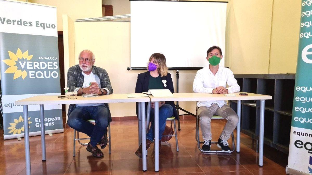 Foto rueda de prensa Verdes Equo Andalucía