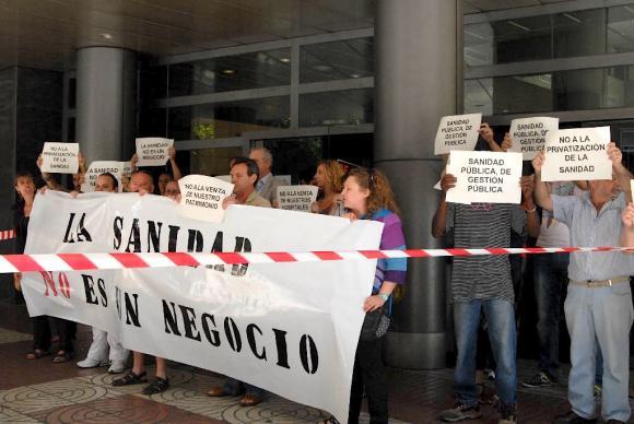 Imagen de archivo de una protesta en Sanidad.