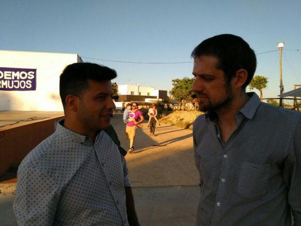 Alejandro Aguilar y Florent Marcellesi en Sevilla.