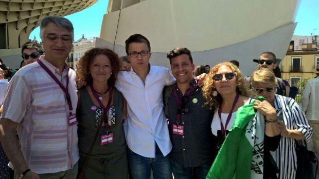 Nuestra gente de EQUO Sevilla con Íñigo Errejón.